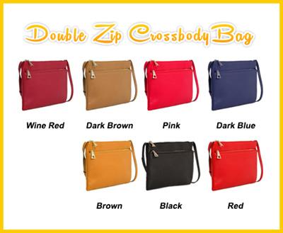 e5781de2ed Qoo10 - Double Zip Bag   Bag   Wallet