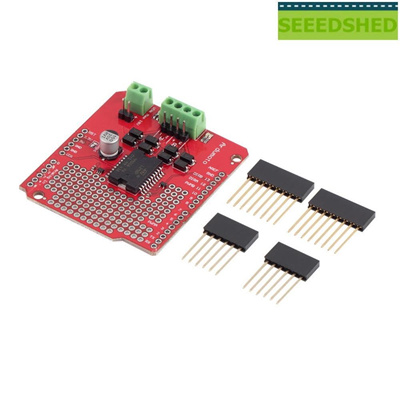 1PCS L298P Dual Channel Motor Driver Shield DC Stepper Driver Board For Arduino