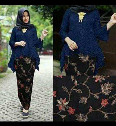 10bb53f0baa79 FAULT PROMO Stelan Kebaya Nia Brukat Blouse and Women's Maxi Jumbo Plisket  Skirt