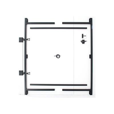 Qoo10 - Fence Walk Through Gate Kit Adjust A Gate Steel Frame No Sag ...