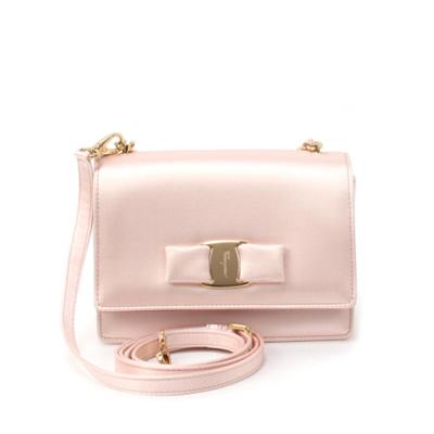 170b760794  Salvatore Ferragamo  Womens Ginny MIni Shoulder Bag 21-F657 BONBON FABRIC  (648387
