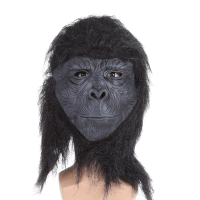 Festnight Halloween Creepy Scary King Kong Mask Latex Face Chimpanzee Mask  Trick Nightmare Mask For