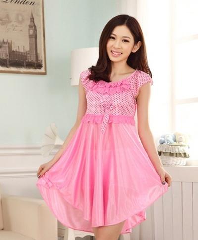 c0ffbd7167 Qoo10 - fiber silk women sleepwear women pajamas sleeping skirts sleep  clothes...   Underwear   Sock.