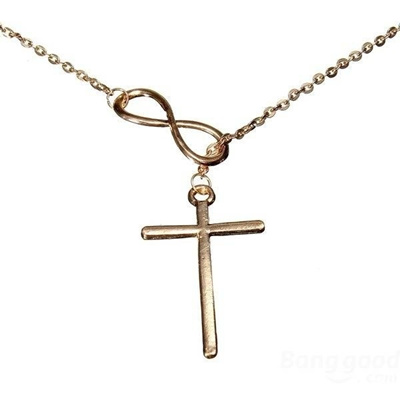 Qoo10 Figures 8 Cross Infinity Symbol Pendant Necklace For Women