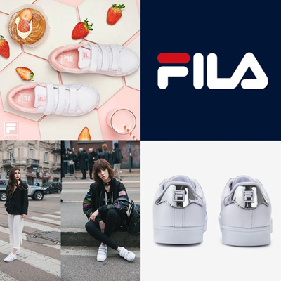 ec3fe93e FILA Authenticity Sneakers / COURT DELUXE / fila Strawberry milk / Melon /  Cotton candy