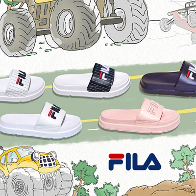 24af84028d1d  FILA Couple Sandals Slipper Drifter Jacked Up Stripes   Drifter Stripes   Fur Sandals