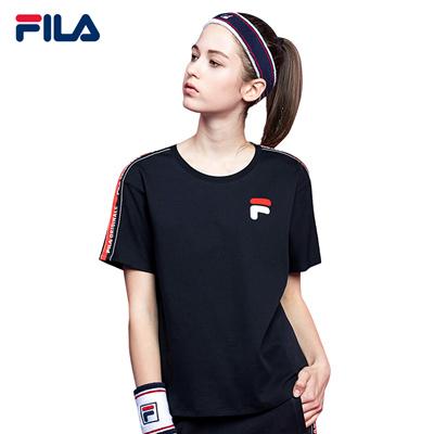 b7c8d2e9fe9b5 Qoo10 - FILA T-shirt/FILA Women Ladies Fashion Originale Side Taped ...
