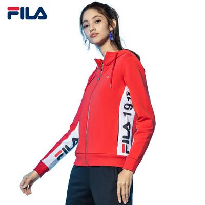 1aa1ed69 FILAFILA Zip Jacket/Women Originale Hooded Zip Jacket/Sports Jacket