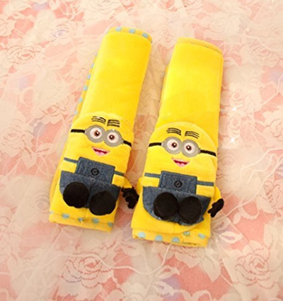 Finex Despicable Me 2 Minion Car Seat Belt Sets Cover Set Of