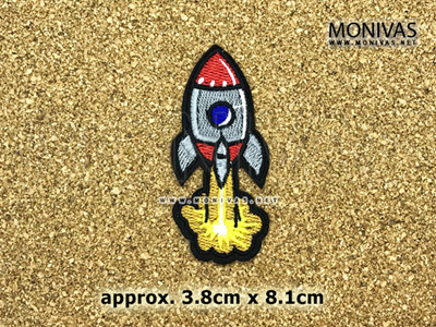 Fire Rocket Iron On Patch Up Applique DIY Fabric Embroidery Fashion Repair  Motif Decoration Badge