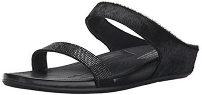 c8331794af974b Qoo10 - FitFlop Womens Banda Micro Crystal Slide Dress Sandal   Shoes