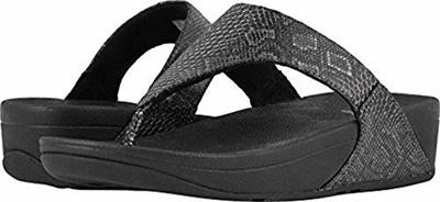 12953983c0fbee FitFlop Women s Lulu Python Print Leather Toe-Thong Sandals   Sunlotion  Bundle