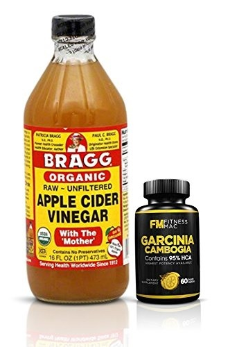 Fitness Mac Braggs Organic Apple Cider Vinegar W Garcinia Cambogia Weight Loss Kit