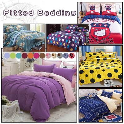 Fitted Bedding Sets/Quilt Cover/Bed Sheet/Pillowcase**Premium Cotton  Bedsheet