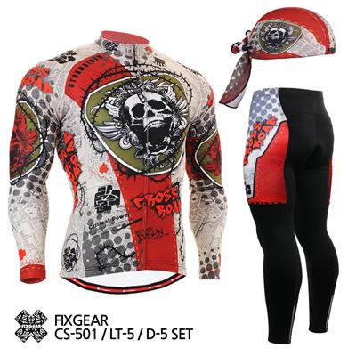 FIXGEAR CS-501-Set Cycling Jersey Long Set Road Mountain Bike Shirt Bicycle  wear 5442f0b6e