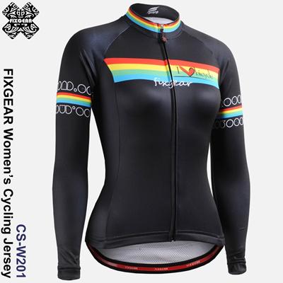FIXGEAR CS-W201 Womens Long Sleeve Cycling Jersey Road Bike Shirt Bicycle  wear 10c728dd4