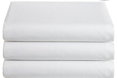 Flat Hospital Bed Sheets, Twin Size Flat Sheets, 3 Pack,
