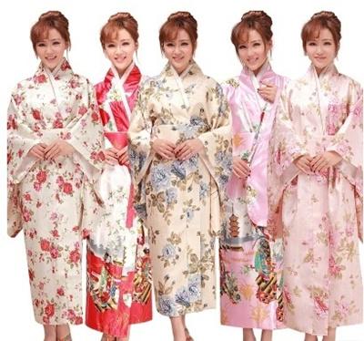 8bd1f55415bff Floral Printed Kids Japanese Kimono Clothing Children Yukata Traditional  Kimonos Girls Bathrobe Japa