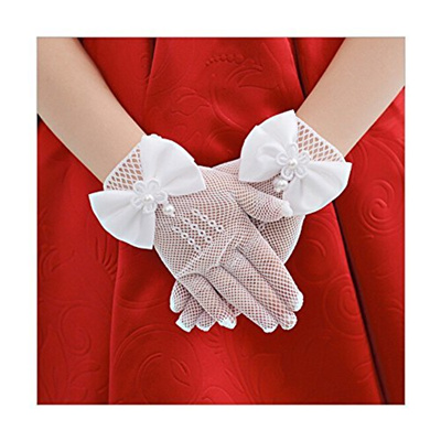 Brief Paragraph Lady Gloves Princess Gloves Bowknot Gloves Dress Gloves
