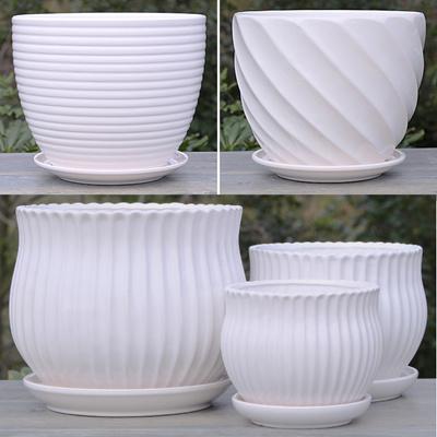 Qoo10 Flower Potceramicsflowerswhite Ceramic Flower Pots With