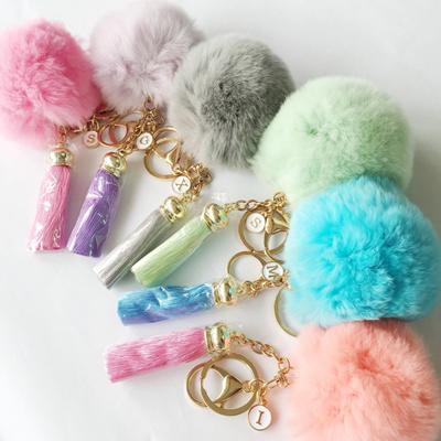 26d2dbad4 ★Fluffy Soft Pom With Multicolour Silk Tassel Keychain★Bag Charm  Accessories★Car Key Ring★Keychain