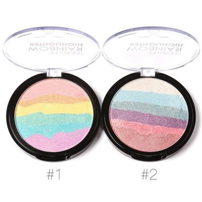 Focallure Waterproof Brighter Glow Kit Shimmer Face Powder Rainbow Highlighter Makeup Contour