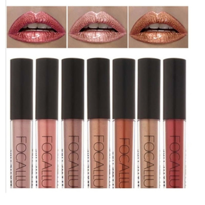 FOCALLURE Waterproof Lipstick Sexy Lip Matte Metallic Color Lip Gloss