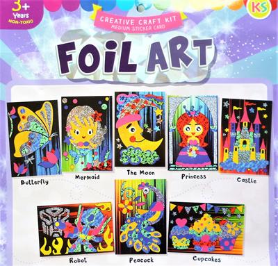 e86b584f3de64 Foil Art / Scratch Art Kits / Greeting Card Kit
