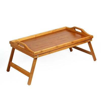 Foldable Bamboo Material Table / Lap Table Desk Bed Tray Breakfast Foldable
