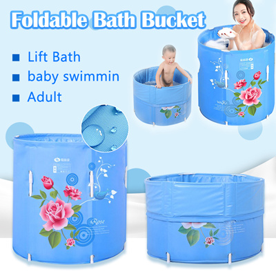 Qoo10 Foldable Bath Bucket Inflatable Bathtub Health Singapore