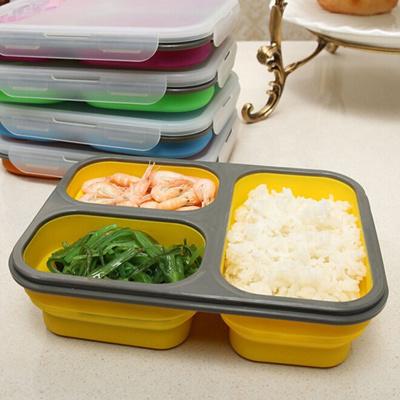 Qoo10 Foldable Microwave Oven Box Bento Silicone Lunch Bento Box