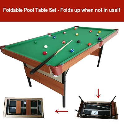 Foldable Pool Table Home Office Use - Easy to set up or to keep!  sc 1 st  Qoo10 & Qoo10 - Foldable Pool Table : Sports Equipment