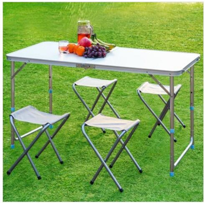 Miraculous Folding Outdoor Table Stool Set Ultralight Height Adjustable Aluminum Portable Table For Camping Download Free Architecture Designs Scobabritishbridgeorg