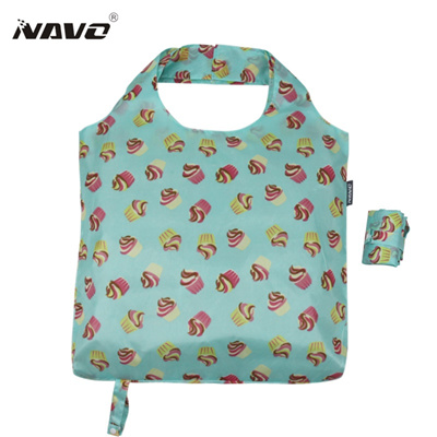 folding shopping bag eco-friendly foldable reusable grocery bags light weight shoulder tote bags