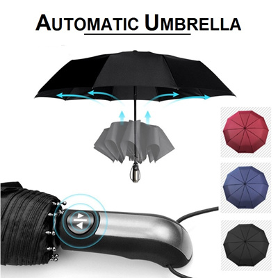 b893daf283ff Folding Umbrella Automatic Open Close Button Lightweight Compact Auto  Umbrellas Windproof Travel