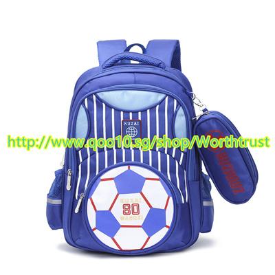 ★★Football Boys Schoolbag for Children Cartoon School Backpack for Primary  Students Casual Bookbag★★