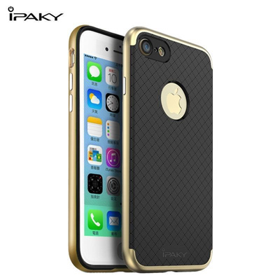 For Apple iPhone 7 / 7 Plus Case Original Ipaky Soft TPU Silicone Back  Cover + PC Frame Case For iPh