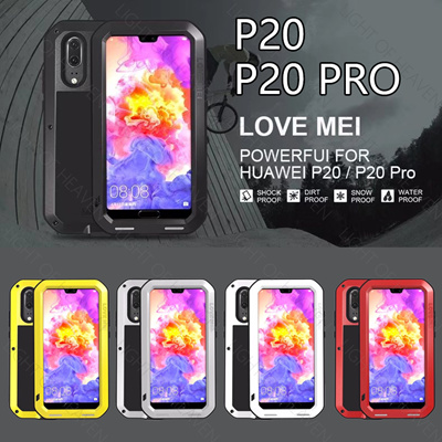 san francisco 3715e c8213 For Huawei P20 P20 Pro LOVEMEI Powerful Metal Waterproof Case Full Body  Back Cover Aluminum Armor