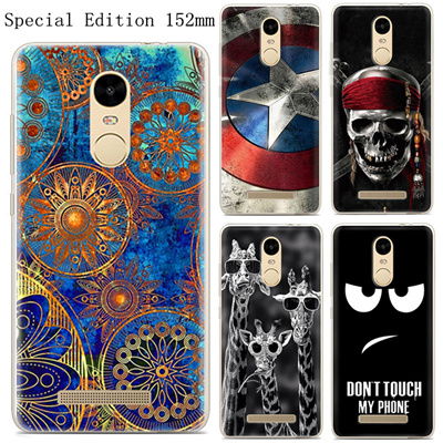 super popular 60bfc 73f1e For Xiaomi Redmi Note 3 Pro Prime Special Edition 152mm Case Painted  Silicone TPU Global Version