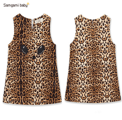 453c4be168a Qoo10 - Foreign trade childrens clothing ebay summer new girl sleeveless  leopa...   Kids Fashion