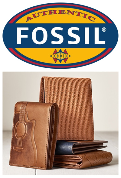 40f94bdcdfb5 AUTHENTIC Fossil Mens leather wallet bifold trifold slim passcase coin pouch  money clip card case