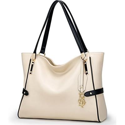 d7bfa1b8e9e2 (FOXER) FOXER Women Genuine Leather Handbag Tote Purse Top Handle Satchel  Shoulder Bag-