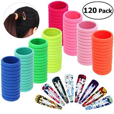 Qoo10 - Frcolor 100pcs Elastics Hair Ties No Damage Ponytail Holder with  20pcs...   Hair Care bb45f568c57
