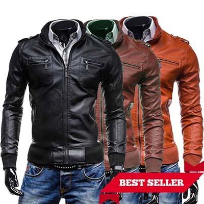 FREE ONGKIR Jaket Kulit Pria Korea Style BK-45 - BEST SELLER 28c10874cf