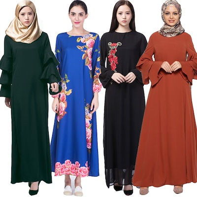 Qoo10 Free Shipping2018 New Arrival Muslimah Hari Raya Dress