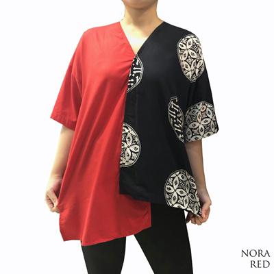 Qoo10 Free Shipping Batik Kombinasi Atasan Batik Modern