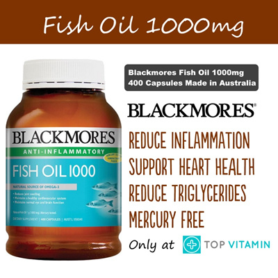 ** FREE SHIPPING ** CHEAPEST ** Blackmores Fish Oil 1000mg Omega 3 400  capsules MADE IN AUSTRALIA