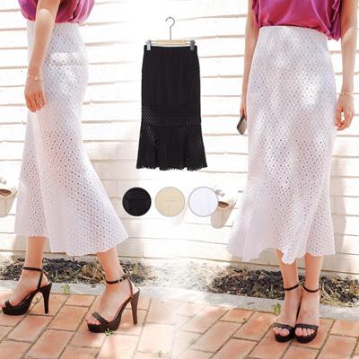 9c7843c6d2179 【Free Shipping】 Heart Race Long Skirt ■ Skirt Maxi Skirt Watermark See  Through Hem Flare Skirt Total Lace Skirt Summer Mermaid Skirt Spring ...