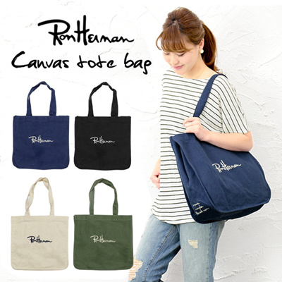 【FREE SHIPPING】Japan Ron Herman Canvas Tote Bag/Shopping Bag/canvas Bag