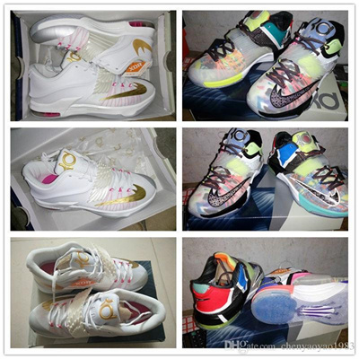 new concept d0c66 60dac Free Shipping Kevin Durant VII EP KD7 Basketball Shoes kd 7 VII Aunt Pearl  shoes mens KD Sneakers